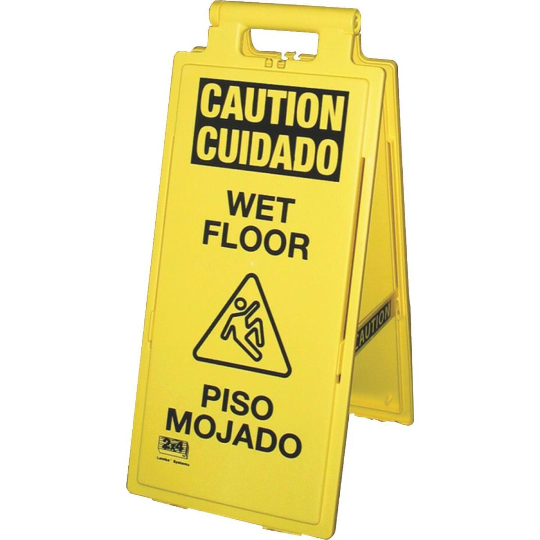 Impact Lockin'Arm Caution Wet Floor Sign Image 1