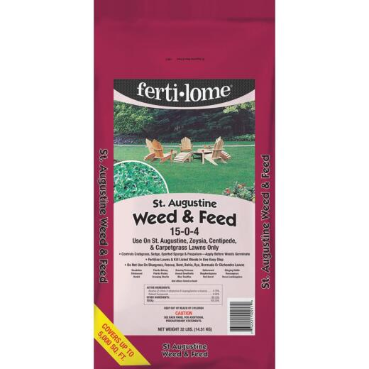 Ferti-lome St. Augustine Weed & Feed 32 Lb. 5000 Sq. Ft. 15-0-4 Lawn Fertilizer with Weed Killer