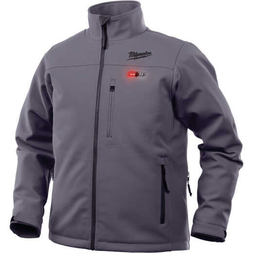Milwaukee M12 Heated ToughShell Large Gray Cordless Jacket Kit
