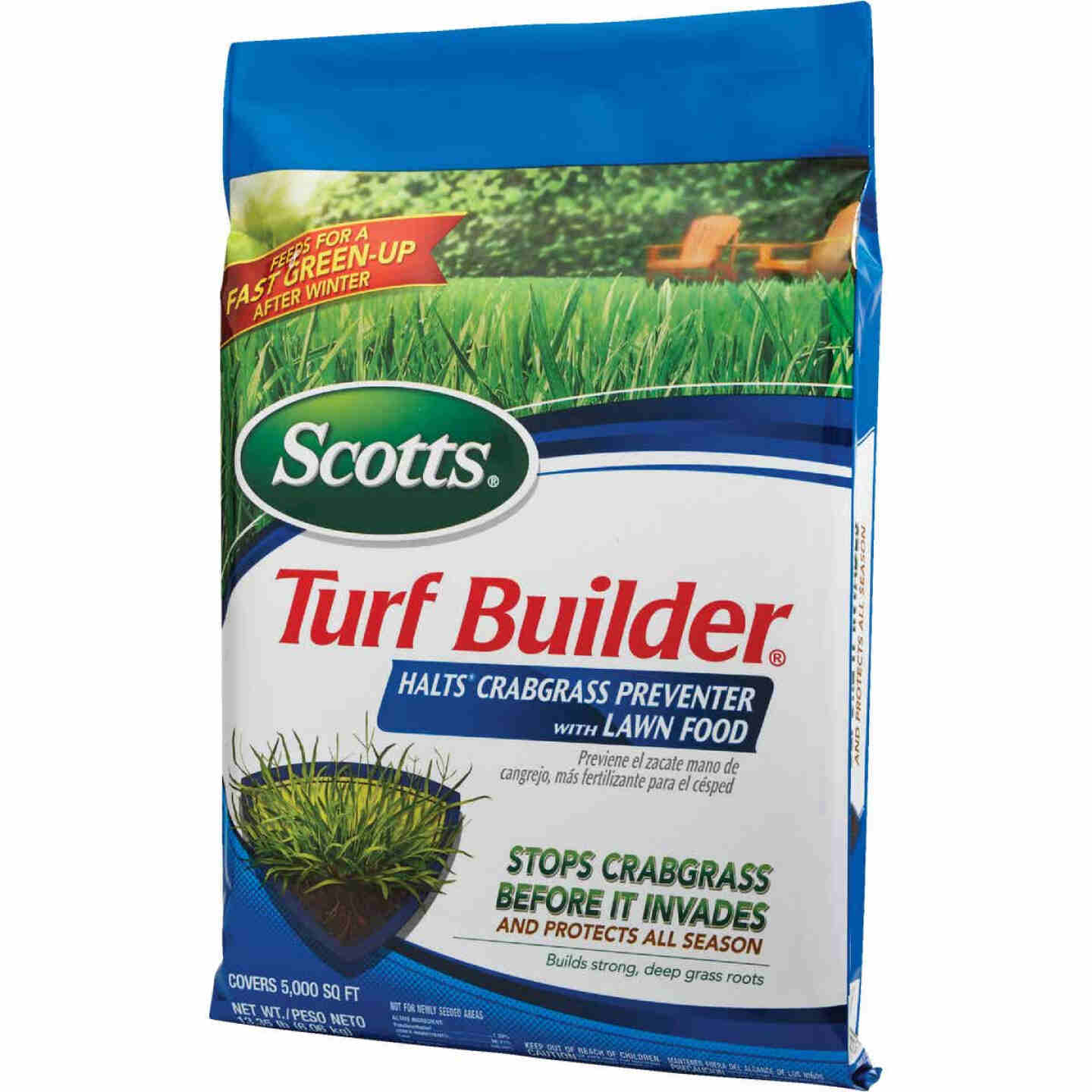 Scotts Turf Builder 13.35 Lb. 5000 Sq. Ft. 30-0-4 Lawn Fertilizer with Halts Crabgrass Preventer Image 5