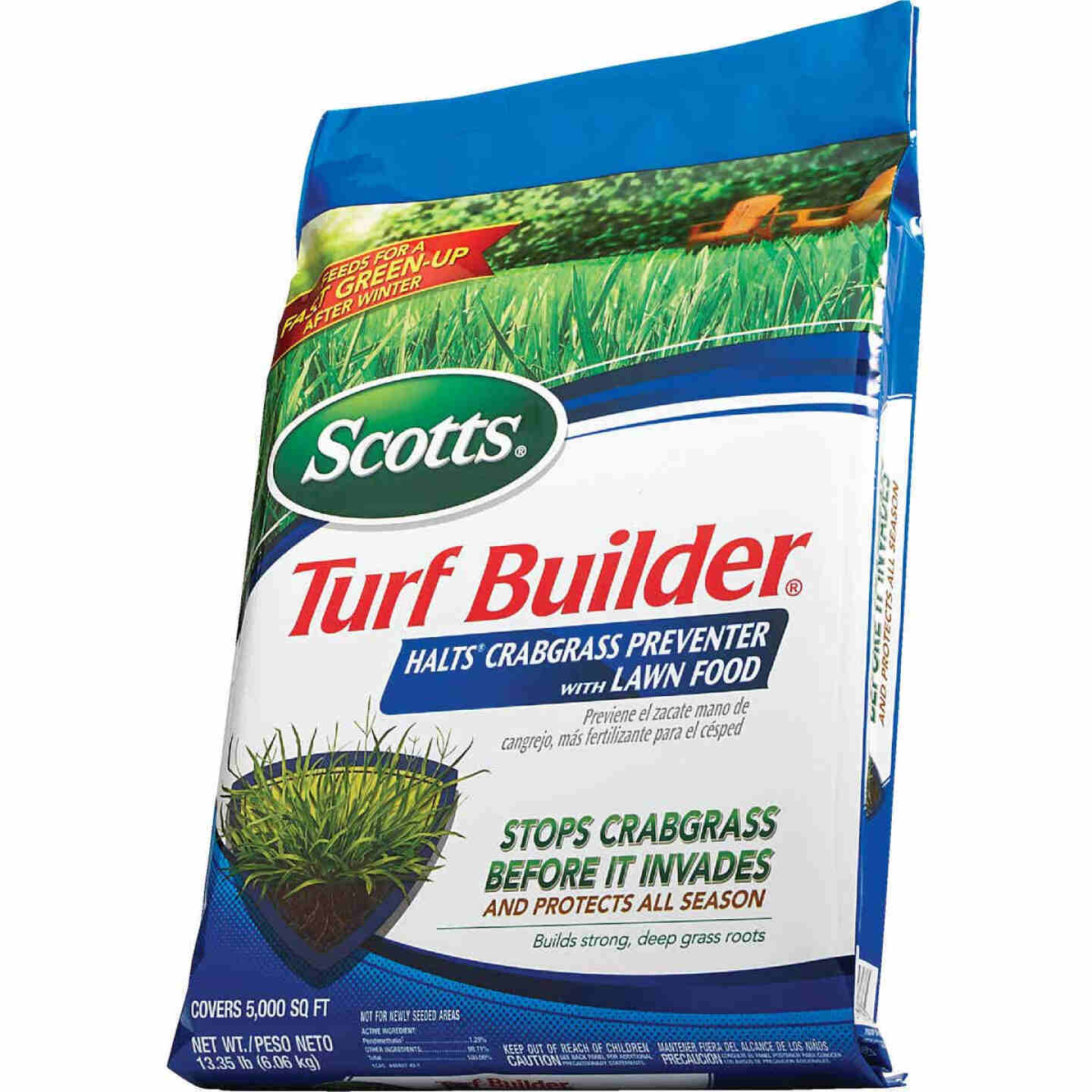 Scotts Turf Builder 13.35 Lb. 5000 Sq. Ft. 30-0-4 Lawn Fertilizer with Halts Crabgrass Preventer Image 7