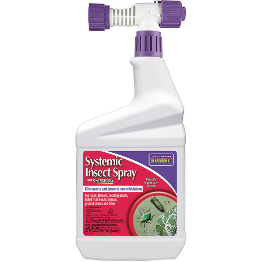 Bonide 32 Oz. Ready To Spray Hose End Systemic Insect Killer