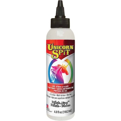 Unicorn Spit 4 Oz. White Ning Paint, Gel Stain & Glaze