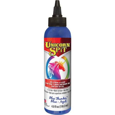 Unicorn Spit 4 Oz. Blue Thunder Paint, Gel Stain & Glaze